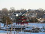 Pagoda in snow