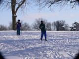 Skiing in the park