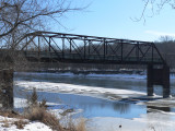 Old Hornby bridge, below Red Rock dam