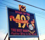 Welcome sign base K2 Korea 1951