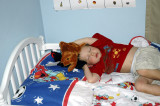 Will Asleep with his puppets
