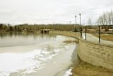 Ice along the edge of Long Lake at Charlton, Ontario