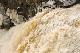 Water and ice at Kapkigiwan High Falls