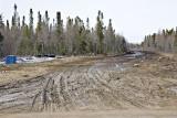 The beginning of the winter road to Attawapiskat in Moosonee.