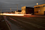 First Street in Moosonee with no hydro