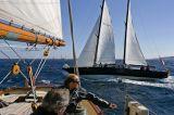 Pen Duick III aux Voiles de Saint-Tropez 2006, photographié depuis Mariette
