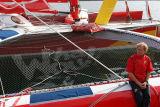 Franck-Yves Escoffier  skipper du trimaran de 50 pieds Crêpes Whaou !