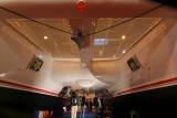 Le catamaran Catana 50 vu d'en dessous