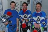 3 pilotes se préparent le matin de l'Enduropale 2007