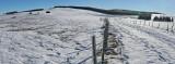 Panorama près du lac gelé de Bourdouze
