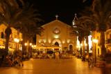 La côte près de Taormine la nuit