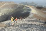 Sur l'île de Volcano, au sommet du volcan du même nom
