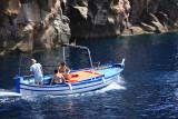 En bateau autour de l'île de Volcano