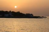 Coucher de soleil sur l'île de Stromboli