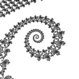 B&W Mandel spiral using DEM