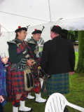 Lord Ailsa and bagpipers