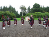 Maybole Pipe Band in front of Cassillis House
