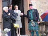 Lady Mary enjoying the pipe band