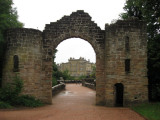 Culzean Castle framed by old gate