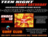 Teen Night flyer (back)