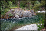 Clear and calm water of the Cal Salmon River