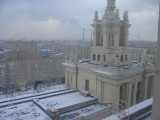moscow view from hotel ukraine