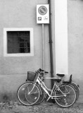Bike and parking sign