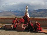 Ganze monastery roof