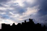 Middleham Castle Silhouette