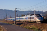 A TGV Sud-Est at Cuers, heading to Nice.