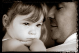 Granddaughter & Dad in Duotone with Edge