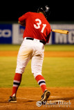 Garrison hit by pitch