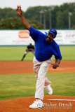 First Pitch Game 1 Rickey Daniels