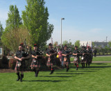 Bagpipers Perform