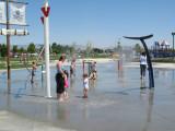 Splashpad in Settlers Park