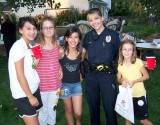 Officer Warren Hangs with  the Girls
