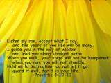 Proverbs 4 10-13