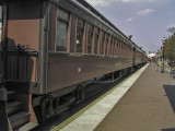 The Strasburg tourist railroad uses these restored Boston and Maine coaches to carry passengers