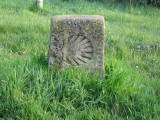 Camino marker outside Atapuerca