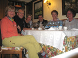 Farewell dinner for Rita and Pedro, with Peter, Marisa and Maggie
