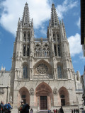 Front facade of the Burgos Cathedral