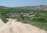 Peter descending into Hontanas