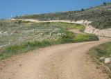 The steep climb to Alto de Mostelares