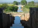 Crossing the Canal de Castilla near Fromista