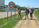Hortensia, Peter and Cathy near Carrion de los Condes