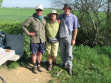 Dominic, Lillian and Peter at the rest area near Bustillo del Paramo