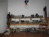 The rack for overnight drying and airing of pilgrim boots