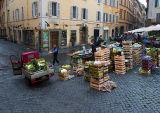 Street market at Via della Panetteria & Via di Scuderie
