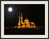 Mosque in Moon Light