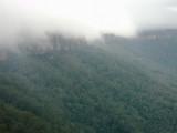 Cloud spilling over the escarpment